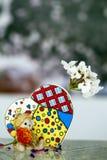 Bärn-Spielzeug und Herz Lizenzfreies Stockbild