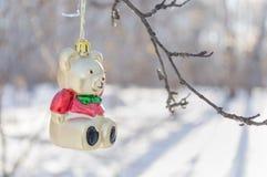 Bärn-Weihnachtsdekoration Lizenzfreies Stockbild