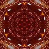 Bärnstensfärgade droppar hartsar modellkalejdoskopet _ royaltyfri illustrationer