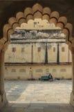 Bärnstensfärgade fortdetaljer royaltyfri bild