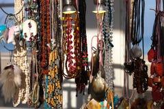 Bärnstensfärgade smycken Royaltyfria Bilder