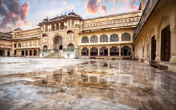 Bärnstensfärgat fortmuseum i Indien Royaltyfria Bilder