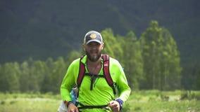 Bärtiger männlicher Läufer
