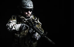 Bärtiger Soldat der besonderen Kräfte Lizenzfreies Stockbild