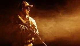 Bärtiger Soldat der besonderen Kräfte Lizenzfreie Stockfotos