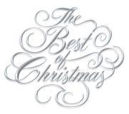 Bäst av jul skriva Royaltyfri Foto
