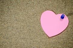 Pappers- rosa färg noterar Royaltyfria Foton