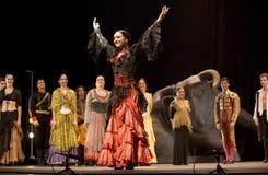 bäst carmen dansar dramaflamenco Royaltyfri Fotografi