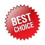 bäst choice etikett stock illustrationer