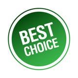 bäst choice etikett royaltyfri illustrationer