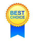 bäst choice etikett Arkivfoto