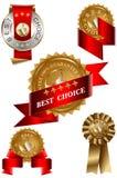 bäst choice etikettset Royaltyfri Fotografi