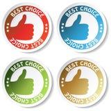 bäst choice etikettsvektor stock illustrationer