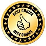 bäst choice guarantee Fotografering för Bildbyråer