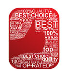 Bäst Choice typografitecken Royaltyfri Fotografi