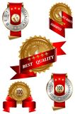 bäst etikettkvalitetsset Royaltyfri Bild