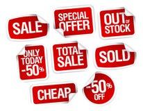 bäst försäljningsetikettsmateriel Arkivfoton
