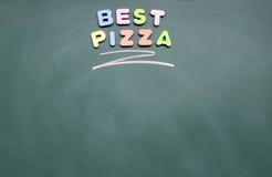 bäst pizza Royaltyfri Bild