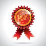 Bäst prima etikettillustration för vektor med skina utformad design. Arkivbild