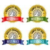 Bäst prislapp royaltyfri illustrationer