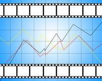 Bästa filmdiagram royaltyfria bilder