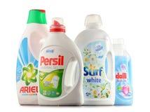 Bästa globala tvagningtvättmedelmärken Royaltyfri Foto