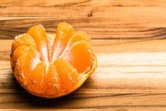 Bästa halva skalad tangerin Fotografering för Bildbyråer