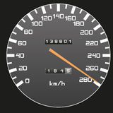Bästa hastighet - hastighetsmätareillustration Royaltyfria Foton