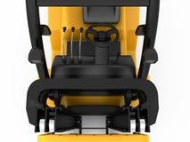 Bästa mekanism av gaffeltrucken framförande 3d Arkivfoto