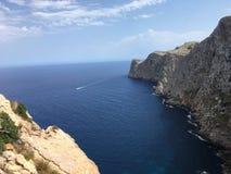 Bästa sikt över havet, i Majorca Royaltyfria Foton