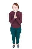 Bästa sikt av be för flicka Royaltyfri Fotografi