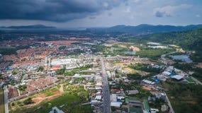 Bästa sikt av byggnad och huset av det Phuket landskapet royaltyfri fotografi