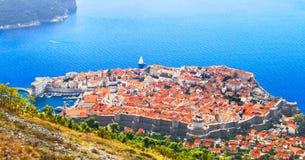 Bästa sikt av den gamla staden, Dubrovnik Royaltyfri Fotografi