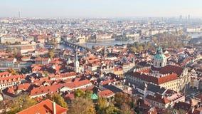 Bästa sikt av den Prague staden Arkivbilder