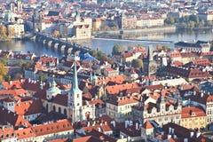 Bästa sikt av den Prague staden Royaltyfri Foto