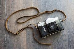 Bästa sikt av den retro kameran Royaltyfria Bilder