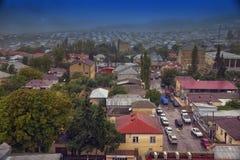 Bästa sikt av den Shamakhi staden Bakgrundsnatur Azerbajdzjan Arkivfoton