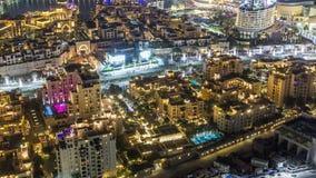 Bästa sikt av det centrala området av stadstimelapsen i stadens centrum Dubai stock video