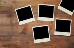 Bästa sikt av det tomma ögonblickliga fotoalbumet Fotografering för Bildbyråer