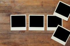 Bästa sikt av det tomma ögonblickliga fotoalbumet Arkivfoto