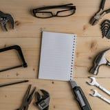 Bästa sikt av DIY-hjälpmedel Royaltyfri Fotografi