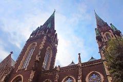 Bästa sikt av domkyrkan av helgon Olga och Elizabeth, Lviv, Ukraina Royaltyfria Bilder