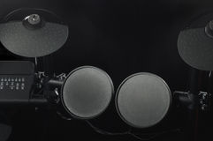 Bästa sikt av en gammal elektronisk valssats på svart bakgrundsnärbild Royaltyfri Fotografi
