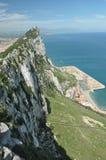 Bästa sikt av Gibraltar Arkivfoto