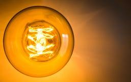 Bästa sikt av glödande ljus för tappning Fotografering för Bildbyråer