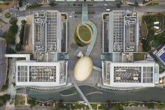 Bästa sikt av Hong Kong Science Park arkivbild