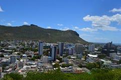 Bästa sikt av huvudstaden av Mauritius, Port Louis Royaltyfri Foto
