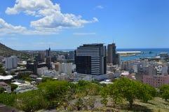 Bästa sikt av huvudstaden av Mauritius, Port Louis Fotografering för Bildbyråer