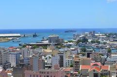 Bästa sikt av huvudstaden av Mauritius, Port Louis Royaltyfria Bilder