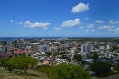 Bästa sikt av huvudstaden av Mauritius, Port Louis Royaltyfri Fotografi